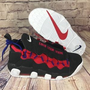 NIKE Air More Money Lone Star State Texas Blk Red